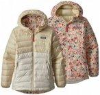 Patagonia - Kid's Reversible Down Sweater Hoody Gr M beige/grau/braun