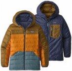 Patagonia - Kid's Reversible Down Sweater Hoody Gr L braun/schwarz