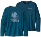 Patagonia - L/S Cap Cool Daily Graphic Shirt - Funktionsshirt Gr XL blau
