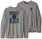 Patagonia - L/S Cap Cool Daily Graphic Shirt - Funktionsshirt Gr XS grau