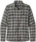 Patagonia - L/S Steersman Shirt - Hemd Gr M grau/schwarz