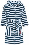 Playshoes - Kid's Fleece-Bademantel Gr 146/152 blau/grau/weiß