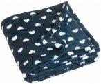 Playshoes - Kid's Fleece-Decke Herzchen - Decke Gr 75 x 100 cm  Schwarz/Blau