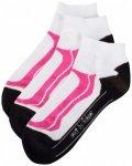 Rohner - Basic Sneaker Sport 3er Pack - Multifunktionssocken Gr 39-42 rosa/weiß