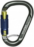 Salewa - Belay Twist Lock Karabiner schwarz/grau/blau