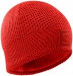 Salomon - Logo Beanie - Mütze Gr One Size rot