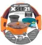 Sea to Summit - X-Set 21 - Geschirr-Set orange/grau