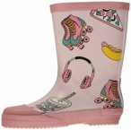 Smafolk - Kid's Rubber Boots With Food Print - Gummistiefel Gr 21 grau/beige