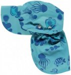 Smafolk - Kid's Swimwear Sun Cap Fishes - Cap Gr XS (0-2 Years) rosa/grau/beige