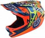Troy Lee Designs - D3 Helmet - Radhelm Gr XL blau/gelb