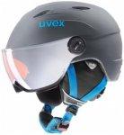 Uvex - Kid's Visor Pro - Skihelm Gr 52-54 cm grau/schwarz