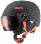 Uvex - Kid's Visor Pro - Skihelm Gr 46-52 cm schwarz/grau