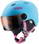 Uvex - Kid's Visor Pro - Skihelm Gr 46-52 cm grau/türkis/schwarz/blau