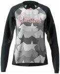 Zimtstern - Women's Techzonez Shirt L/S - Radtrikot Gr M grau/schwarz
