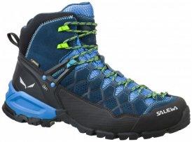 Salewa - Alp Trainer MID GTX - Wanderschuhe Gr 7,5 schwarz/blau