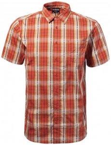 Sherpa - Seti S/S Shirt - Hemd Gr M rot/beige