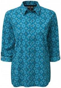 Sherpa - Women's Chakra Long Sleeve Shirt - Hemd Gr S;XS grau;türkis/blau