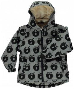 Smafolk - Boy's Winter Jacket with Apples - Winterjacke Gr 3-4 Years grau/schwarz