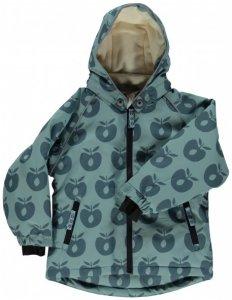 Smafolk - Boy's Winter Jacket with Apples - Winterjacke Gr 4-5 Years grau/türkis/schwarz