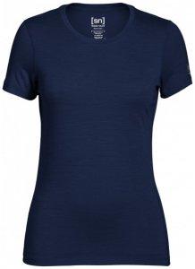 SuperNatural - Women's Base Tee 175 - Merinounterwäsche Gr S blau/schwarz