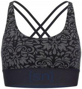 SuperNatural - Women's Motion Yoga Bra Printed Gr L;M;S;XL;XS schwarz/grau