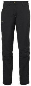 Vaude - Women's Farley ZO Capri Pants - Trekkinghose Gr 44 - Short schwarz