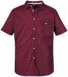 Schöffel - Shirt Miesbach4 Short - Hemd Gr 50 lila/rot/schwarz