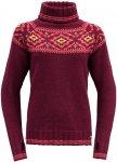 Devold Damen Ona Round Pullover (Größe XS, Rot)