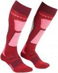 Ortovox Damen Ski Rock'n'wool Socken (Größe 39, 40, 41, Rot)