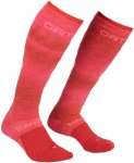 Ortovox Damen Ski Stay or go Socken (Größe 39, 40, 41, Rot)