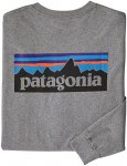 Patagonia Herren P-6 Logo Responsibili-Longsleeve (Größe M, Grau)