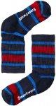 Smartwool Kinder Hike Light Striped Crew Socken (Größe 29, 30, 31, 32, Blau)