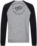 Super.Natural Herren Signature Contrast Pullover (Größe XXL, Grau)