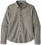 Patagonia - L/S Organic Cotton Slub Poplin Shirt - Hemd Gr L grau