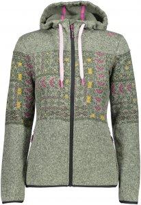 CMP W FIX Hood Jacket Knitted Norwegian   Größe 36,38,40,42,44,46   Damen Freizeitjacke