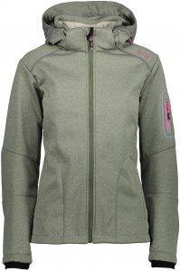 CMP W Jacket Zip Hood Softshell (Modell Sommer 2018) | Größe 34,36,38,40,42,44,46,48,50 | Damen Frei