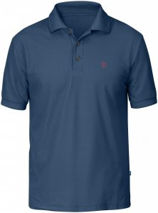 Fjällräven M Crowley Pique Shirt, Uncle Blue | Herren Kurzarm-Polos