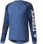 adidas Mens Terrex Trailcross Longsleeve Blau, 46, Herren Langarm-Shirt ▶ %SAL