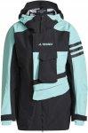 adidas Terrex Xploric Rain Jacket W Colorblock / Blau / Schwarz   Größe XL   D