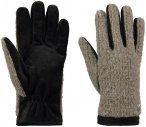 Barts Lennon Gloves Grau, Female Mens -Farbe Stone, M
