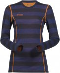Bergans Akeleie Lady Shirt Gestreift / Blau | Größe XL | Damen Unterwäsche
