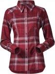 Bergans Bjorli Shirt Rot, Female XL -Farbe Burgundy -Red Check, XL