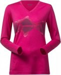 Bergans Echo Wool Shirt Pink, Female Merino Langarm-Shirt, XS