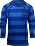 Bergans Fjellrapp Kids Shirt Blau, Merino 92 -Farbe Sky Blue Striped, 92