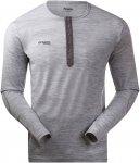 Bergans Henley Wool Shirt Grau | Größe M | Herren T-Shirt