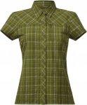 Bergans Langli Shirt Short-Sleeve, Green Tea Check Kariert, S