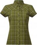 Bergans Langli Lady Shirt Short-Sleeve, Green Tea Check | Größe XS,S,M,L | Dam