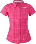 Bergans Langli Lady Shirt Short-Sleeve, Hot Pink Check | Größe XS,S,M,L | Dame