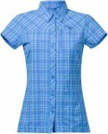 Bergans Langli Lady Shirt Short-Sleeve, Light Winter Sky Check | Größe XS,S,M,