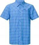 Bergans Langli Shirt Short-Sleeve, Light Winter Sky Check | Herren Kurzarm-Hemd